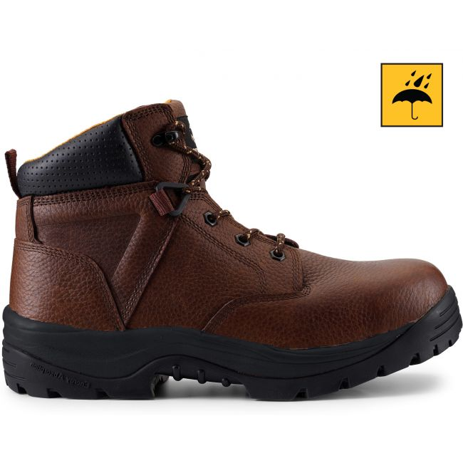 "UTILITY FIT 6"" Men's Dark Brown Waterproof Work Boot"