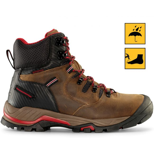 "ZION 6"" Men's Earth Brown Waterproof Composite Toe Work Boot"