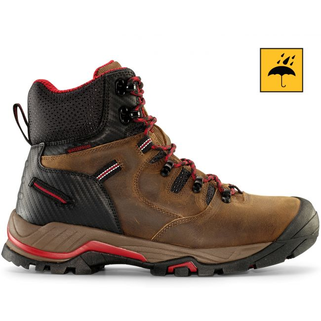 "ZION 6"" Men's Earth Brown Waterproof Work Boot"