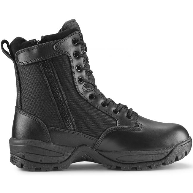 "TAC FORCE 8"" Men's Black Waterproof Insulated Tactical Boot with Zipper"