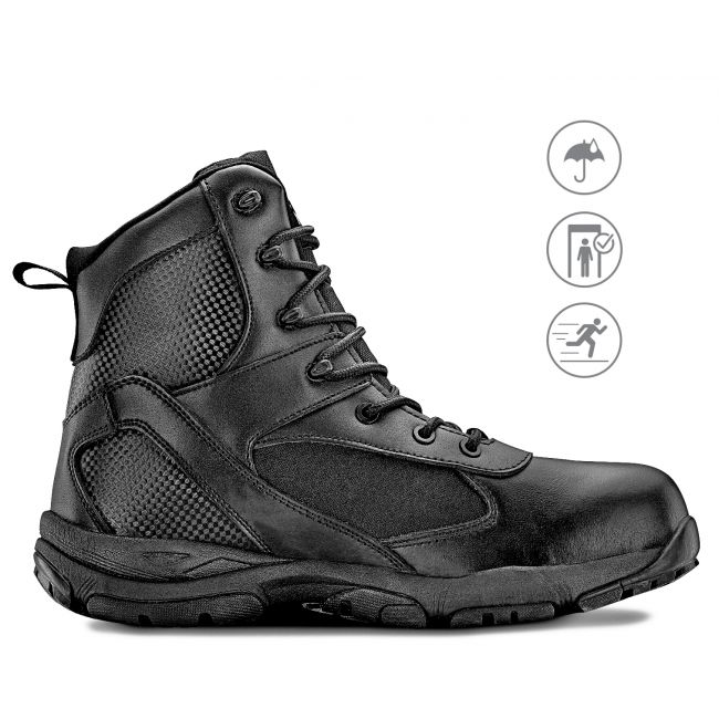 "TAC ATHLON 6"" Men's Black Waterproof Tactical Boot"