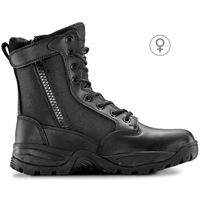 "TAC FORCE 8"" Women's Black Tactical Boot with Zipper"