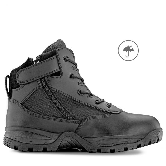 "PATROL 6"" Men's Black Waterproof Tactical Boot with Zipper"