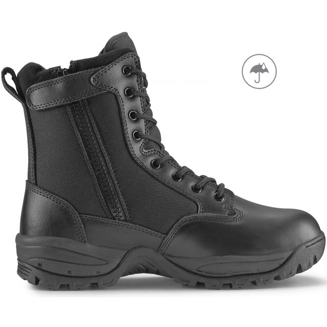 "TAC FORCE 8"" Men's Black Waterproof Tactical Boot with Zipper"